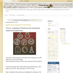 Handcraft Blog: bobbin lace
