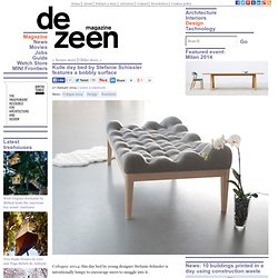 Kulle lumpy day bed with boiled-wool bobbles by Stefanie Schissler