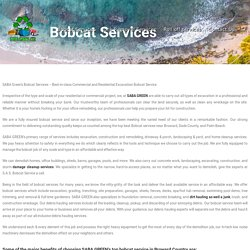 Best Bobcat Services Near