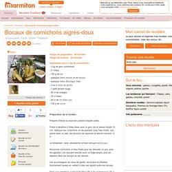 Bocaux de cornichons aigres-doux : Recette de Bocaux de cornichons aigres-doux