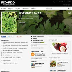 Bocconcinis farcis Recettes
