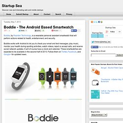 Boddie - The Android Based Smartwatch