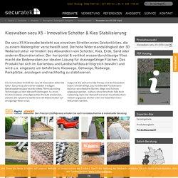 Kieswaben secu X5 - Bodenwaben zur Stabilisierung von Kies, Schotter und Splitt - Securatek