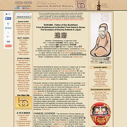 Daruma (Bodhidharma) - Patriarch of Zen Buddhism in China and Japan
