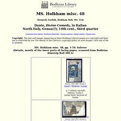 Holkham misc. 48: Inferno