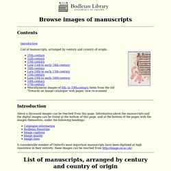 Bodleian Library: Western manuscripts to c.1500: Browse images