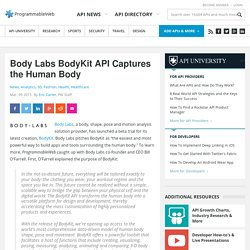 Body Labs BodyKit API Captures the Human Body