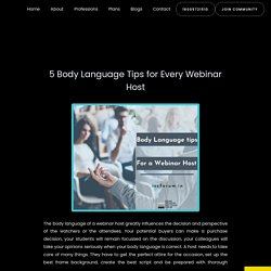 5 Body Language Tips for Every Webinar Host