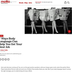 How Body Language Can Help You Get a Job Offer - Motto