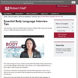 Body Language in an interview