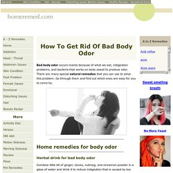 17 Bad Body Odor Home Remedies That Work