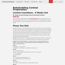 Bodybuilder Contest Preparation at 8 weeks out from the Contest