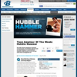Teen Amateur Of The Week: Hubble Hammer