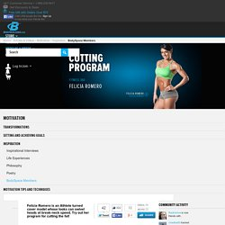 Felicia Romero Cutting Program