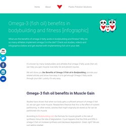 Omega-3 (fish oil) benefits in bodybuilding and fitness [infographic]