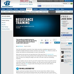 10 Reasons Why Women Should Do Resistance Training