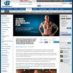Jim Stoppani's 12-Week Beginner-To-Advanced Bodybuilding Plan