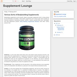Supplement Lounge: Various Sorts of Bodybuilding Supplements
