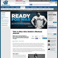 This Is War: Kris Gethin's Workout Journal