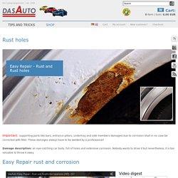 Rost am Auto behandeln, massiven Rost reparieren - dasAuto Lackspray