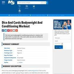 Dice And Cards Bodyweight And Conditioning Workout