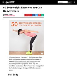 50 Bodyweight Moves You Can Do Anywhere