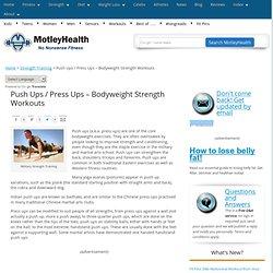 Push Ups / Press Ups - Bodyweight Strength Workouts