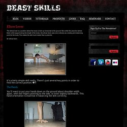 Elbow Lever « Bodyweight Strength Training « Beast Skills