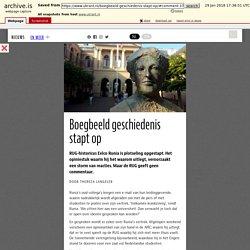 Boegbeeld geschiedenis stapt op – UK