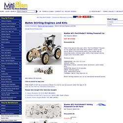 Boehm German made Stirling Engine kits