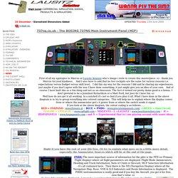 BOEING B737NG COCKPIT .. Main Instrument Panel ( MIP )