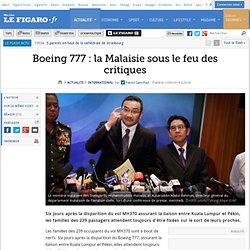 Boeing 777: la Malaisie sous le feu des critiques
