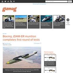 Boeing JDAM-ER munition completes first round of tests