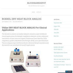 BOEKEL DRY HEAT BLOCK ANALOG