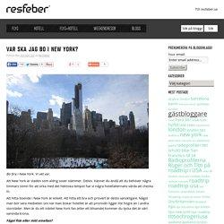Bra boende i New York