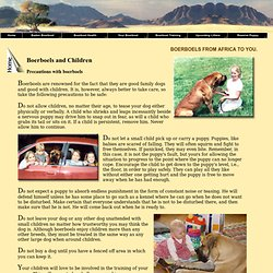 Baden Boerboel, boerboels and children