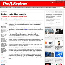 Boffins render fibre obsolete