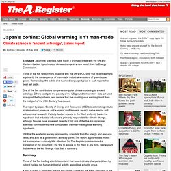 Japan's boffins: Global warming isn't man-made