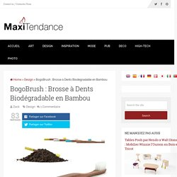 BogoBrush : Brosse à Dents Biodégradable en Bambou