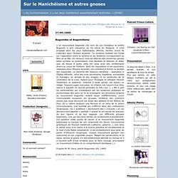Bogomiles et Bogomilisme : Sur le Manichéisme et autres gnoses