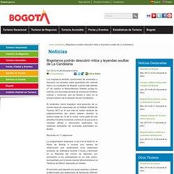 Bogotanos podrán descubrir mitos y leyendas ocultas de La Candelaria