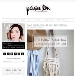 Boho Tassel Crochet Bag – Free Pattern
