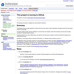boilerpipe - Boilerplate Removal and Fulltext Extraction from HTML pages
