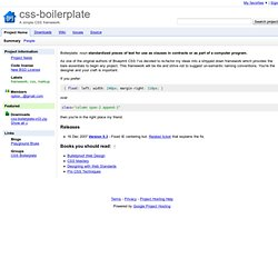 css-boilerplate - Project Hosting on Google Code