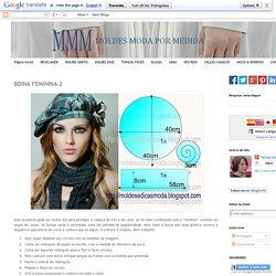 BOINA FEMININA-2 ~ Moldes Moda por Medida