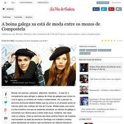 A boina galega xa está de moda entre os mozos de Compostela
