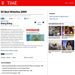 Boing Boing - 50 Best Websites 2009