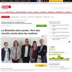 OUEST FRANCE 11/10/16 La Boissière-des-Landes. Vers des circuits courts dans les cantines