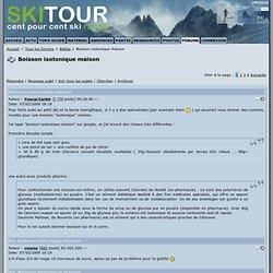 Boisson isotonique maison - Skitour