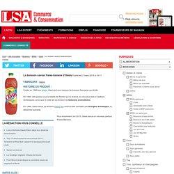 La boisson saveur fraise-banane d'Oasis